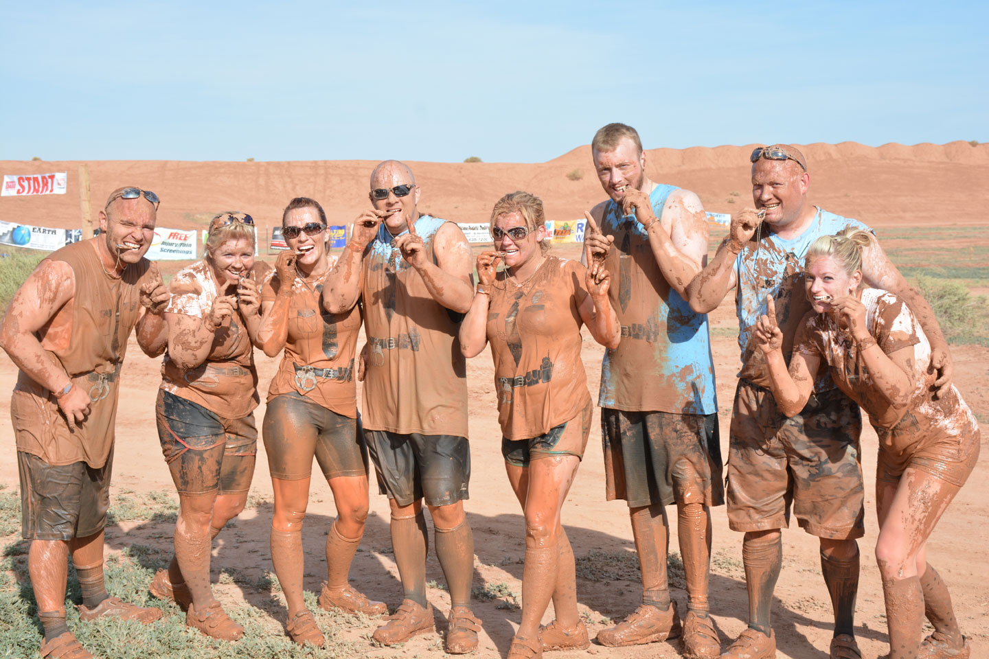 Corporate Team Challenge Hurricane Mud Run